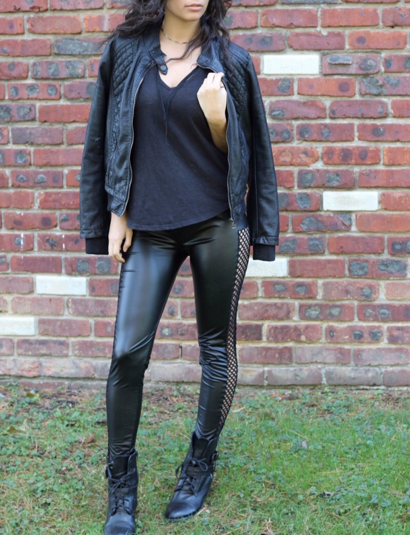 b728bcdef Fall Outfit Of The Day: Vegan Leather - The Brunette Babe