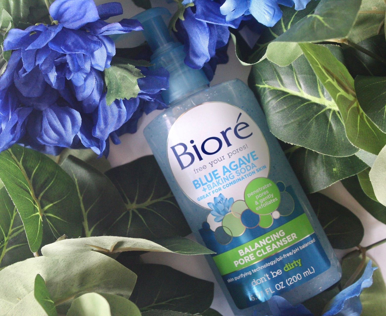 Balance Combination Skin With Bioré, Bioré Blue Agave + Baking Soda, combination skin tips, new at the drugstore, affordable skincare