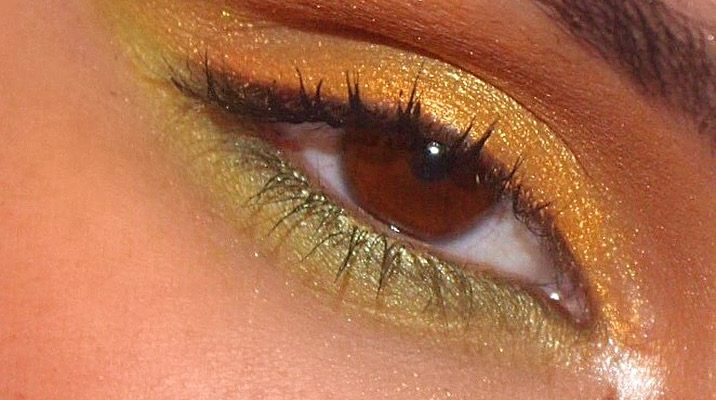 Gold and Green Spring Eye Makeup Look