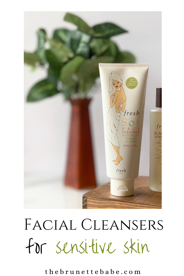 cleansers sensitive skin, fresh soy face cleanser, top gentle cleansers, facial cleaners, gentle facial cleansers