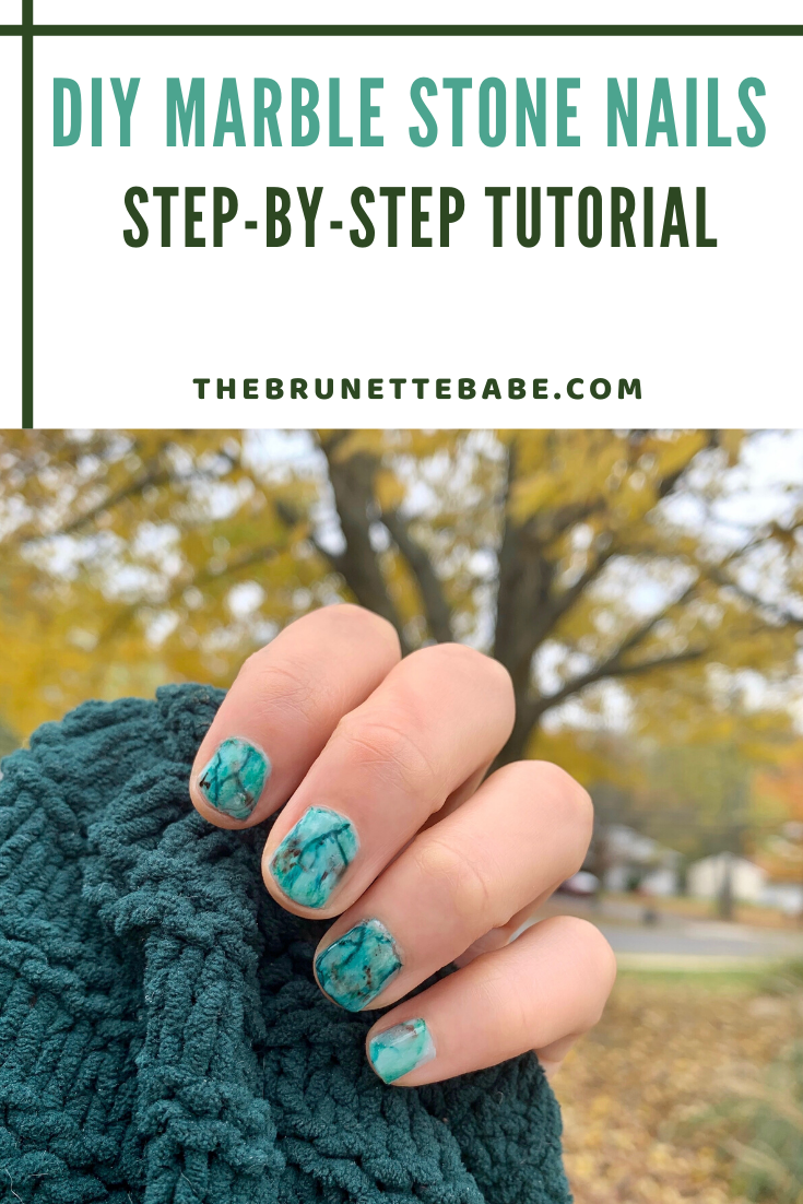 DIY Marble Stone Nails: Step by Step Tutorial, marble nails, marble stone nails, easy nail art, nail art, nail inspiration, nail design, nail art 2019, fall nails
