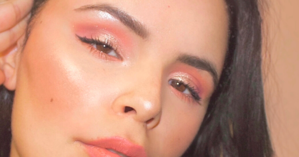 Valentine's Day Makeup look – Peachy Pink Glam