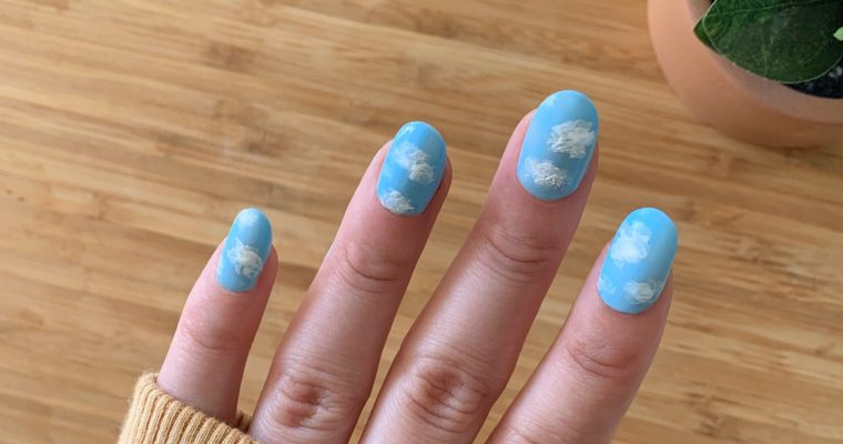 Spring Nails – Cloud Nail Art